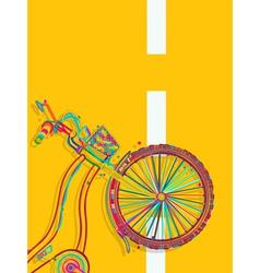 Bike card vector image