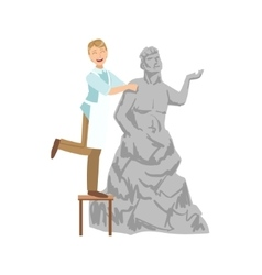 Sculptor creative person vector