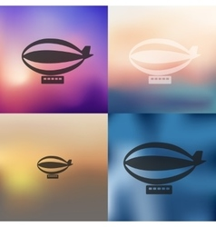 Airship icon on blurred background vector