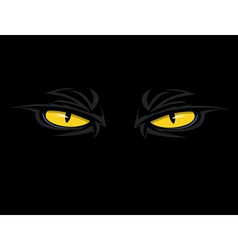 Evil eyes thumb vector