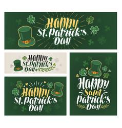happy saint patricks day banner irish beer vector image