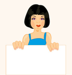 Girl with clean sheet vector