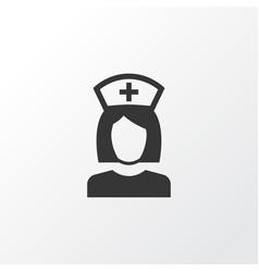 Nurse icon symbol premium quality isolated nanny vector