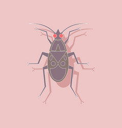 Paper sticker on background of soldier bug vector