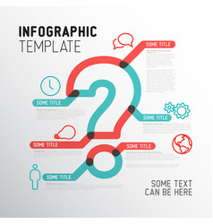 question mark infographic template vector image