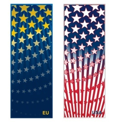 Colored background european union and united state vector