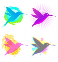 Hummingbird emblems vector