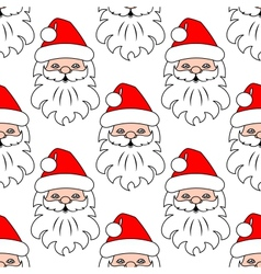 Christmas seamless pattern background with santa vector