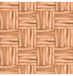 Oak Cubical Parquet Wooden Seamless Pattern vector image