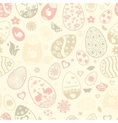 Seamless pattern of easter eggs vector