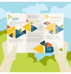 Flat design brochure template vector