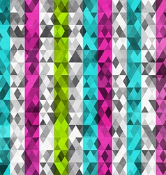 Abstract color triangles seamless with grunge vector