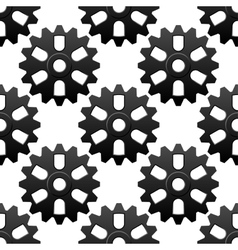 Mechanical sesamless pattern with cogwheels or vector