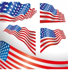 Usa windy flags vector