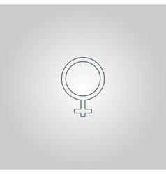 Female sign icon vector