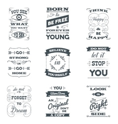 Quotes typography set vector