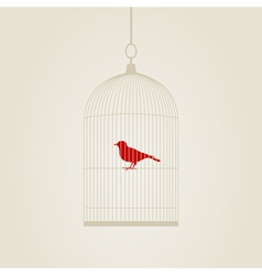 Bird in a cage vector