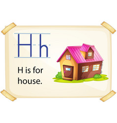 A letter H for house vector image vector image