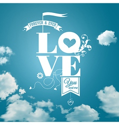 Abstract romantic card realistic sky background vector