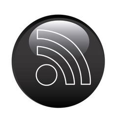Black circular frame with wifi icon vector