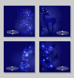 blue backg set vector image vector image