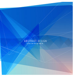 Blue background with abstract shapes and lines vector