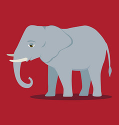 Cartoon elephant large mammal forest vector