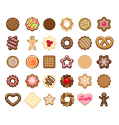 Christmas cookies icons vector