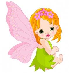Cute baby fairy vector