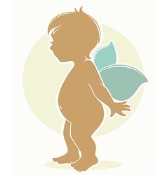 fairy baby vector image