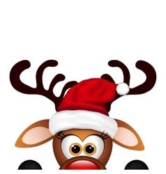 Funny Christmas Reindeer vector image