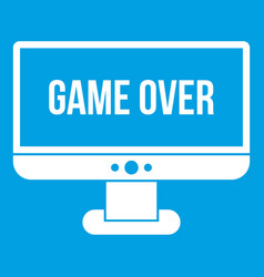 Game over icon white vector