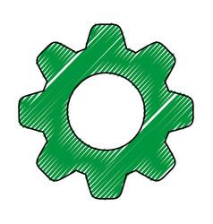 gear doodle vector image