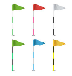 golf flags realistic flags of the golf vector image vector image