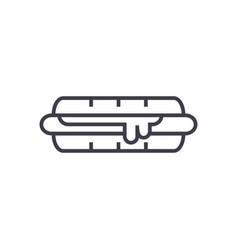 hamburger line icon sign on vector image