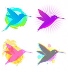 Hummingbird emblems vector