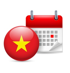 Icon of National Day in Vietnam vector image vector image