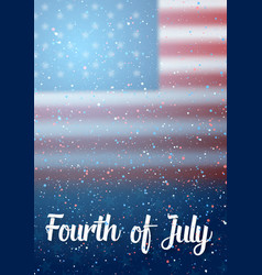 Independence day poster 4th of july vector