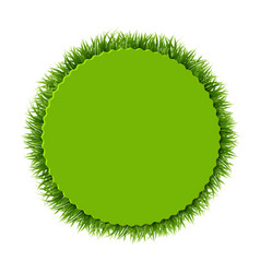 label with grass vector image vector image