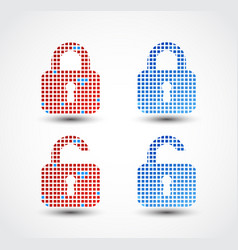 Lock - pixel icon vector