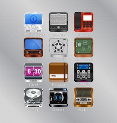 Mobile icons for your device vector image