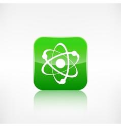 Molecule atom iconapplication button vector