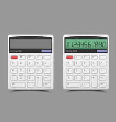on off white calculator vector image vector image