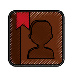 phone agend application icon vector image
