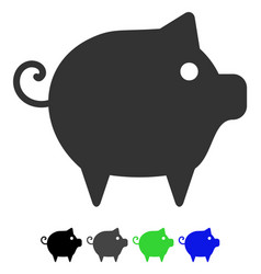 piggy flat icon vector image