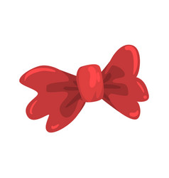 Red bow tie celebration party symbol cartoon vector