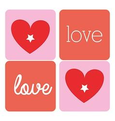 Romantic love design vector image vector image