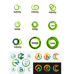 round circle business logos vector image