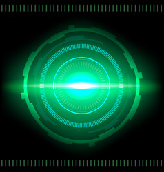 Sci-fi futuristic interface abstract technology vector