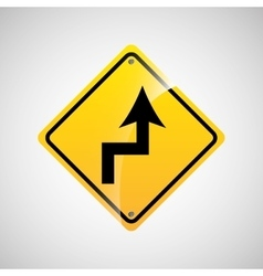 Signal traffic yellow icon graphic vector